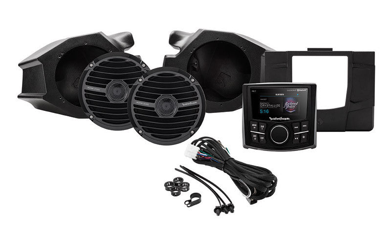 ROCKFORD FOSGATE POLARIS RZR STAGE 2 PMX-2 Stereo and Front Speaker Kit for select Polaris®