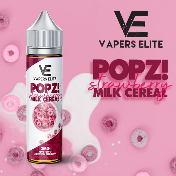 Vapers Elite | Popz Strawberry Milk Cereal