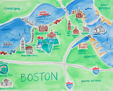 Boston, MA - Limited Edition Print