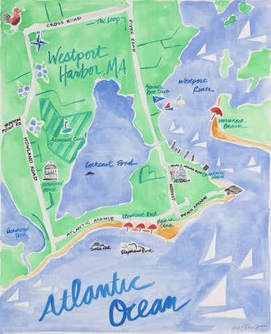 Westport Harbor, MA - Limited Edition Print
