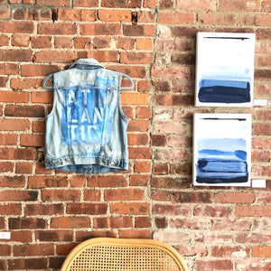 ATLANTIC DENIM VEST - MEDIUM
