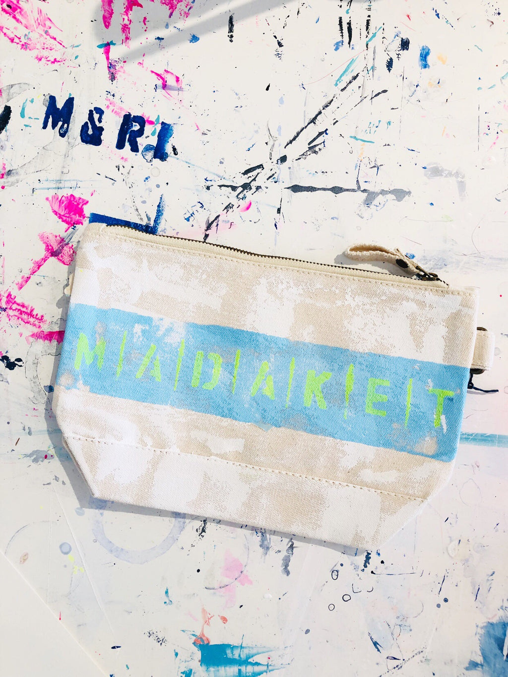 MADAKET CANVAS CLUTCH
