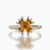 Yellow sapphire, diamond halo ring - 5