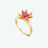 Ruby diamond ring - 5