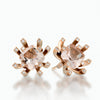 Diamond and morganite earstuds