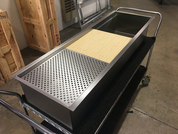 custom dual tier galley sink
