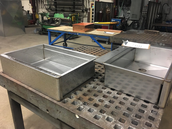 custom sinks stainless steel