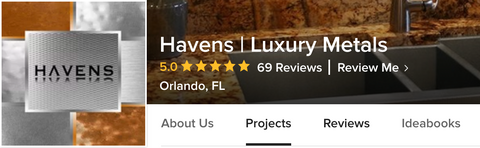 Review Havens Luxury Metals on Houzz