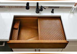 Undermount copper sinks made in the USA for under mount installation.