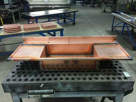 custom drainboard sink with two drainboards made of 14 gauge copper by Havens Metal