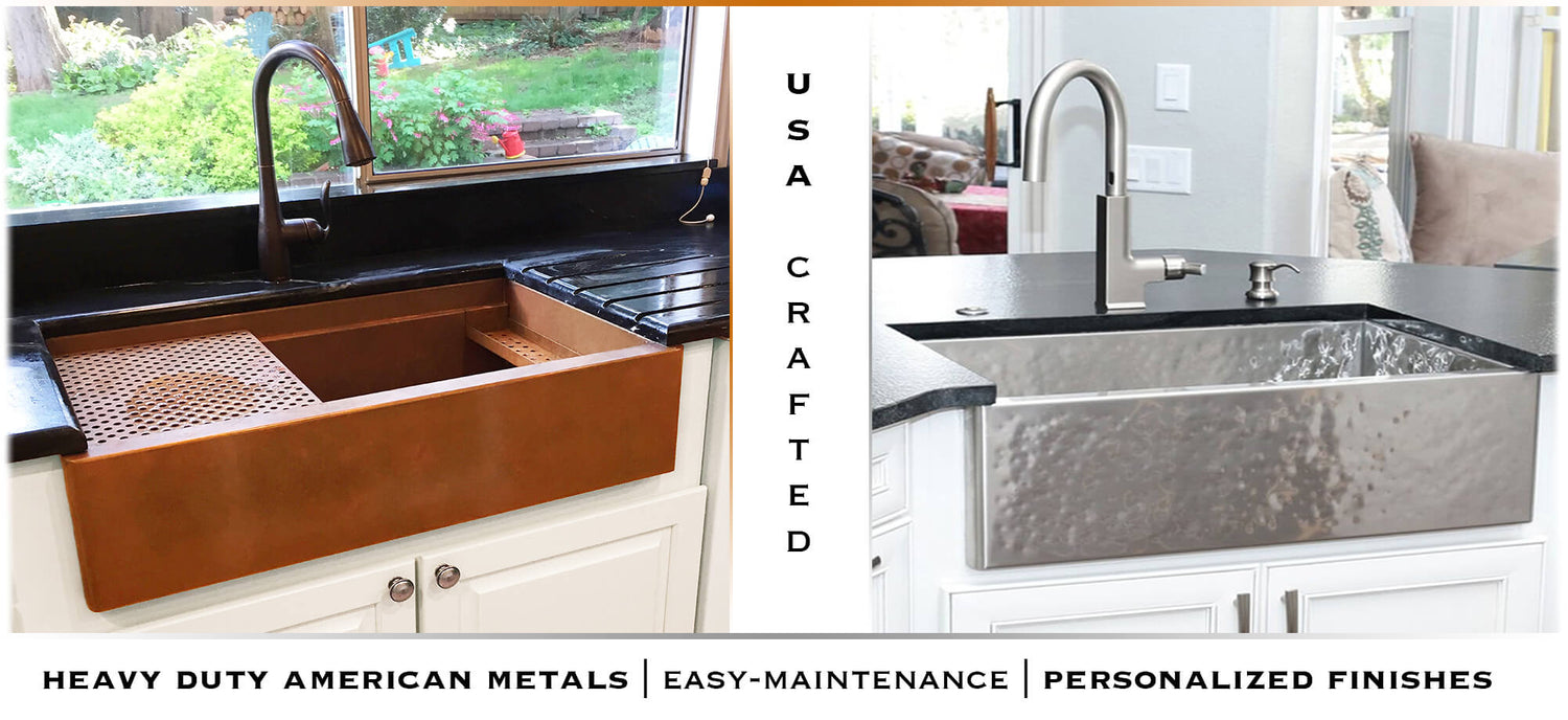 Medium image of copper  u0026 stainless steel farmhouse sinks handcrafted in the usa