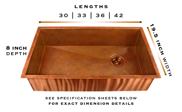 heritage copper undermount sink