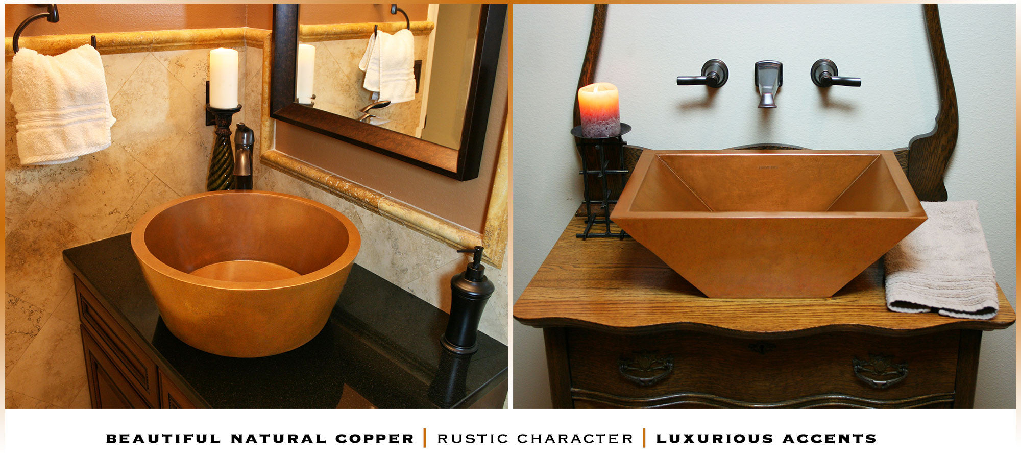 copper bathroom vessel sinks