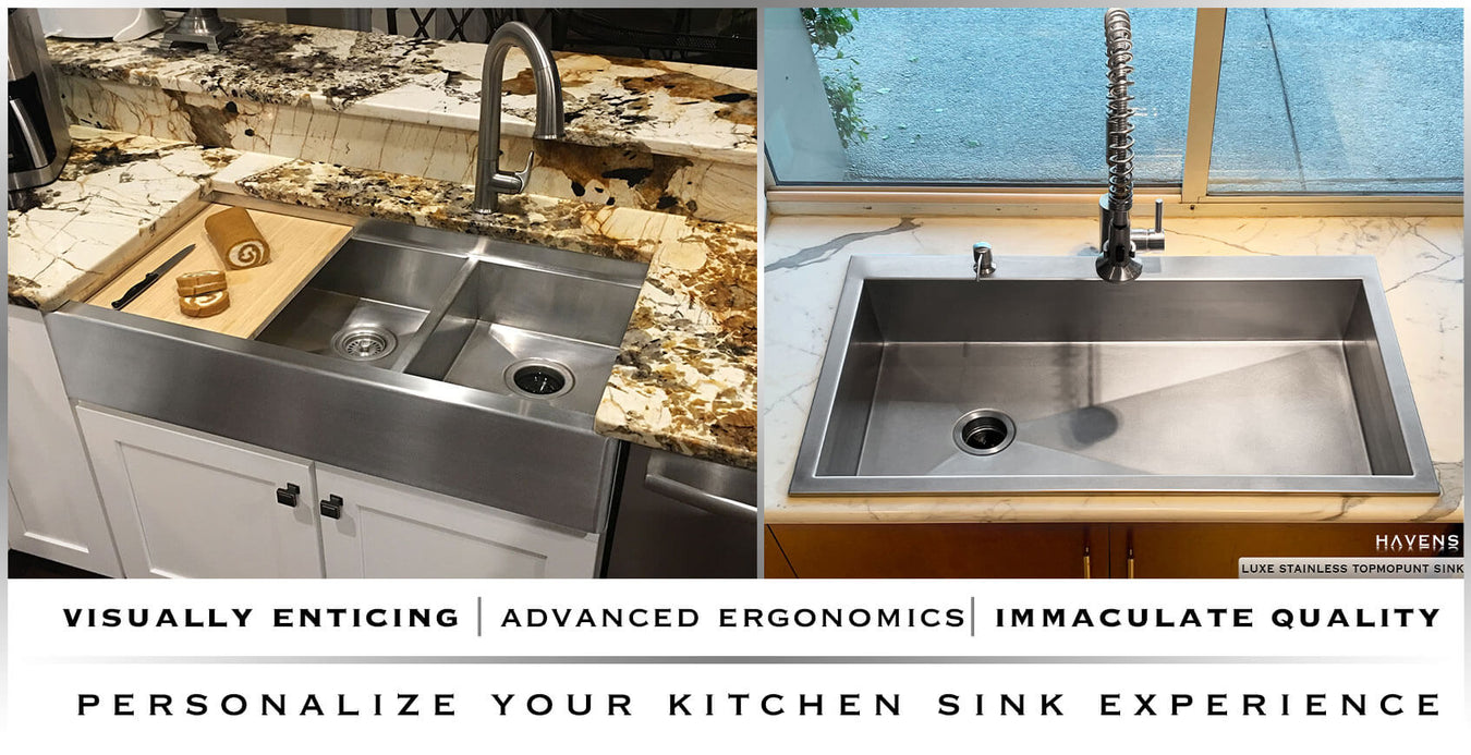 Brilliant Custom Stainless Steel Sinks Usa Handcrafted Havens Complete Home Design Collection Lindsey Bellcom