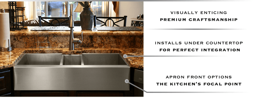 custom stainless steel undermount triplebowl sink by havens metal