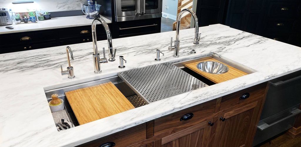 Custom stainless under mount sinks USA made 16 gauge steel
