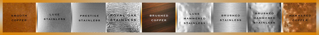 luxury metal finishes copper and stainless