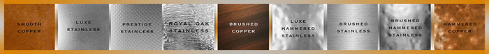 Havens Luxury metal finishes: copper and stainless