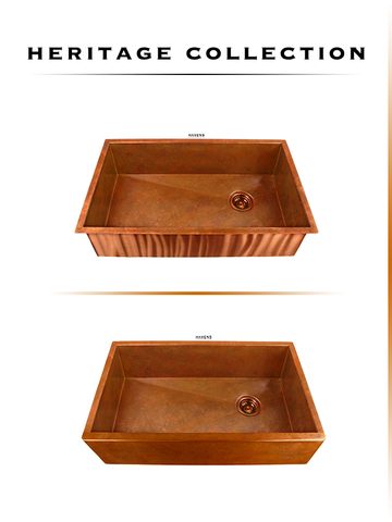 undermount copper sinks