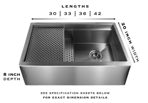 legacy stainless steel sink specs