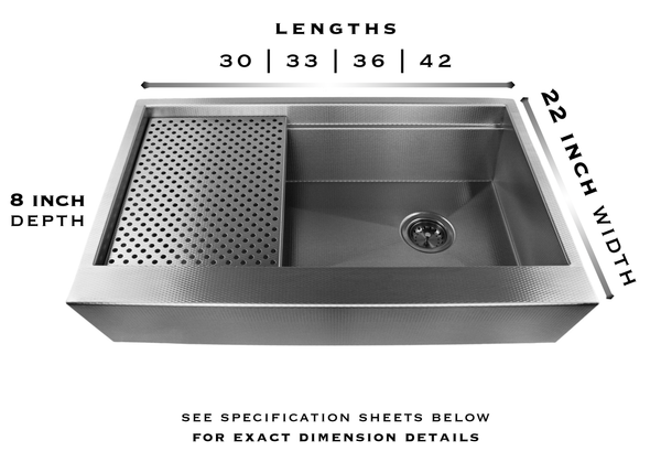 stainless steel undermount farm sink