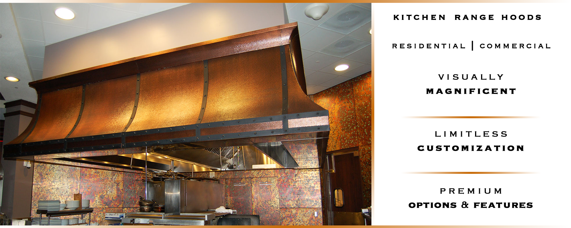 custom copper range hood