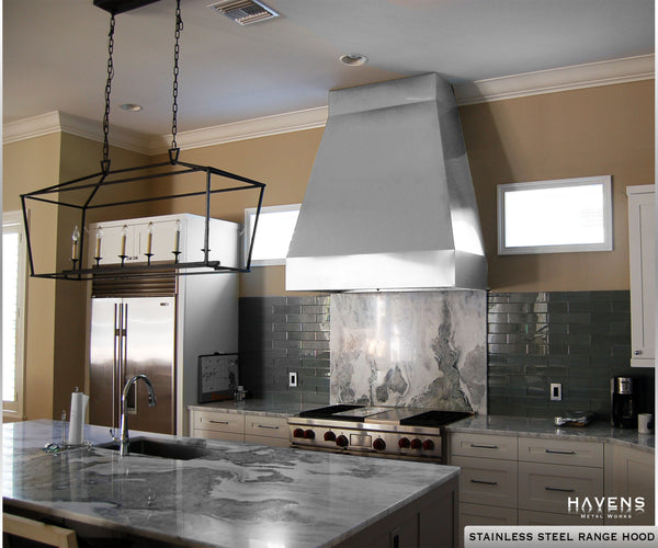 Stainless steel range hoods images and gallery by Havens.