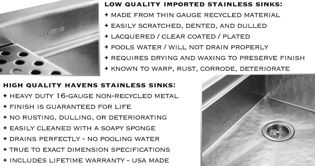 stainless steel sinks care and maintenance
