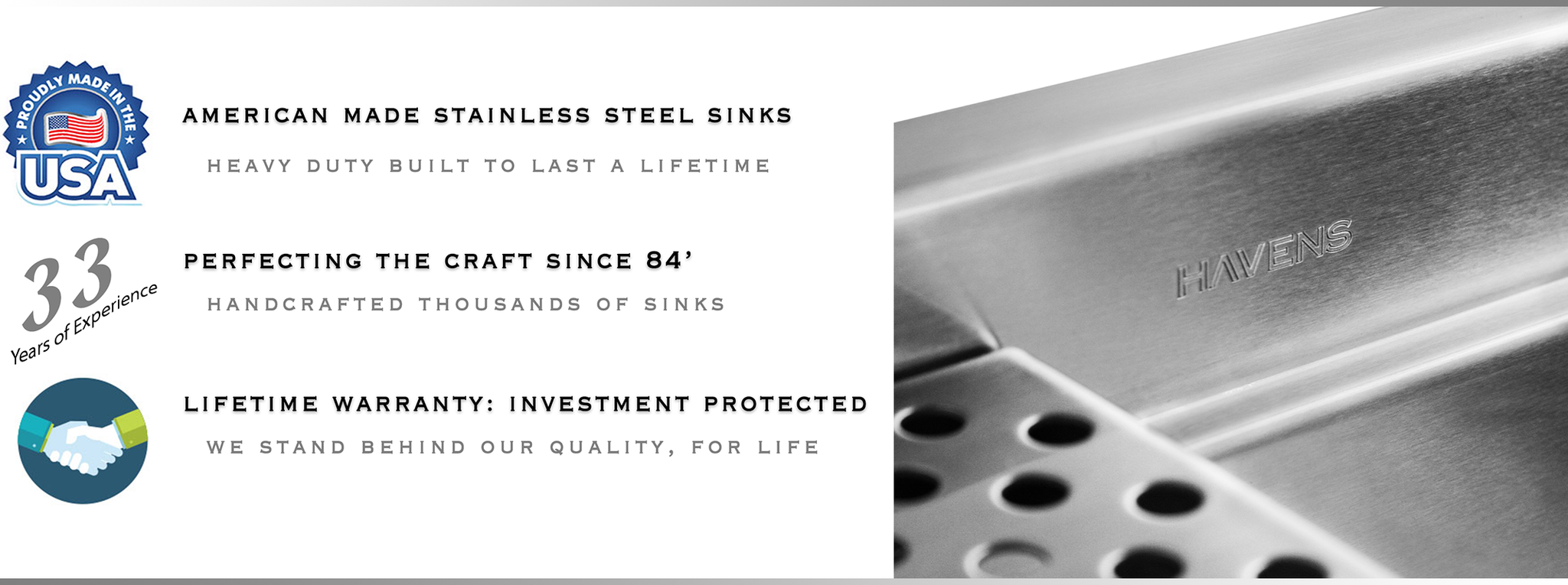 Kitchen Sinks For Less stainless steel kitchen sinks - havens metal