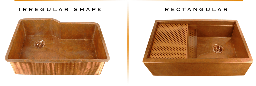 Select a top mounted copper sink for a beautiful replacement sink.