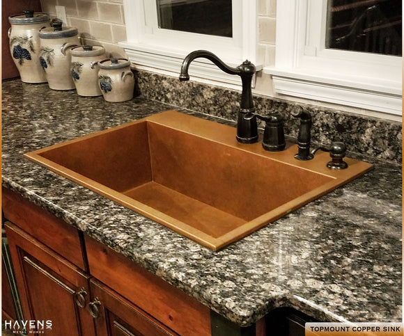 top mount sinks copper stainless usa havens metal rh havensmetal com
