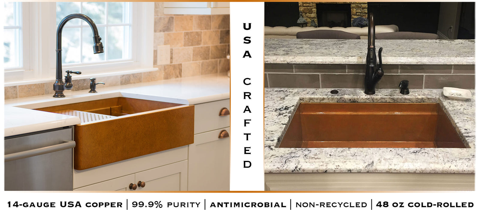 Undermount Copper Kitchen Sinks | USA - Havens | Luxury Metals