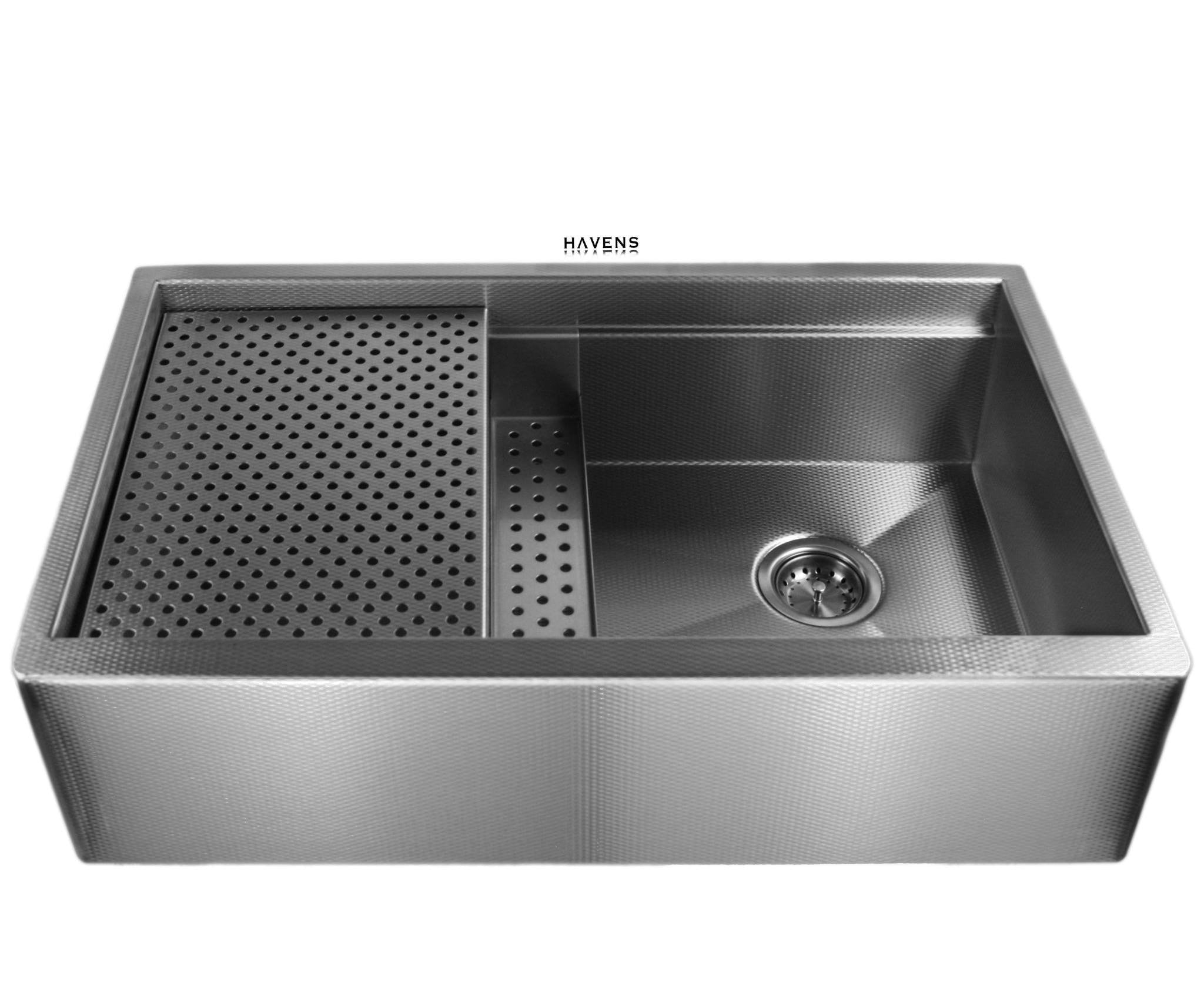 Legacy Stainless sink w/ grid drain & sponge caddy