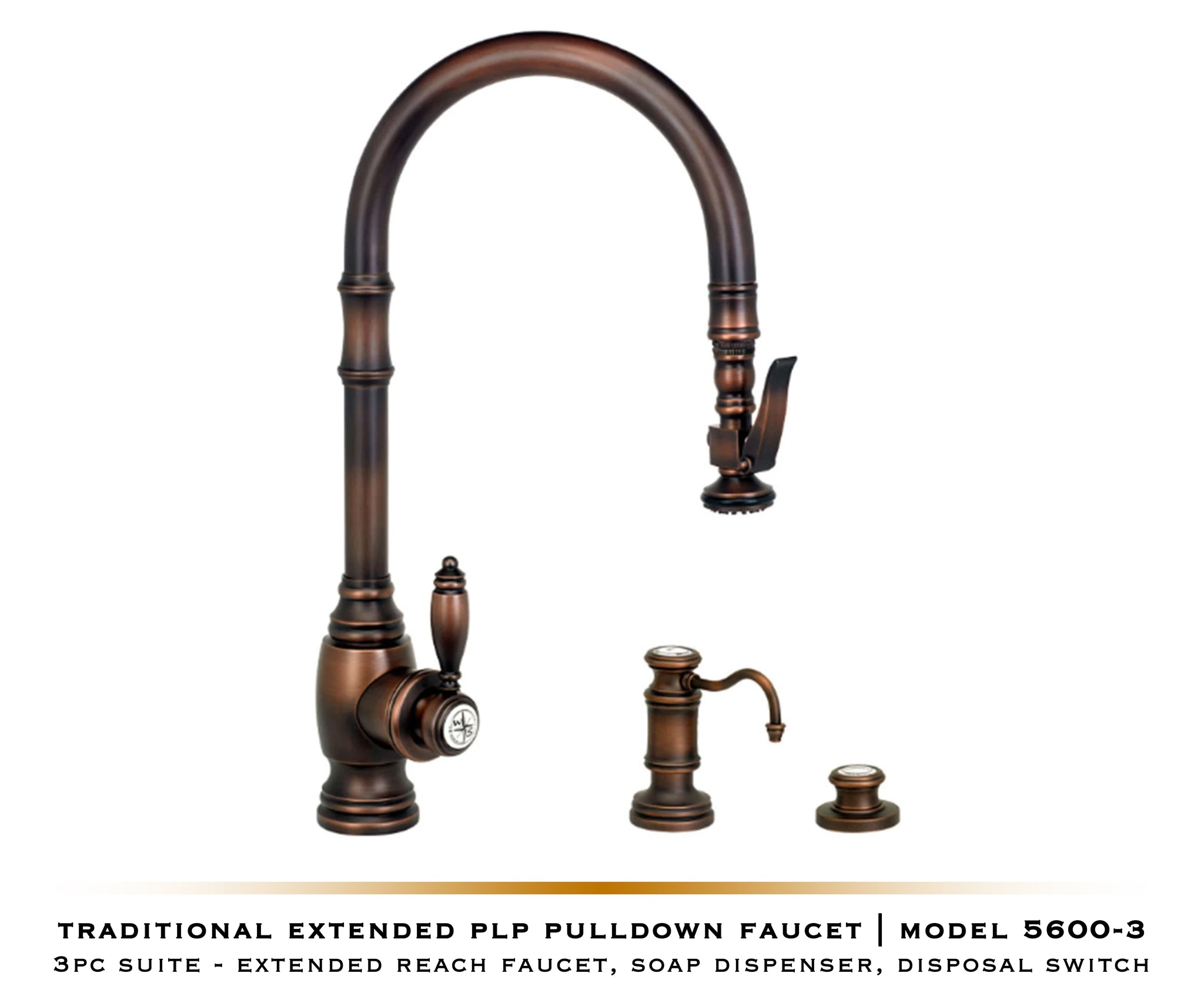 PLP Pulldown Waterstone Faucet | Traditional 5500 / 5600