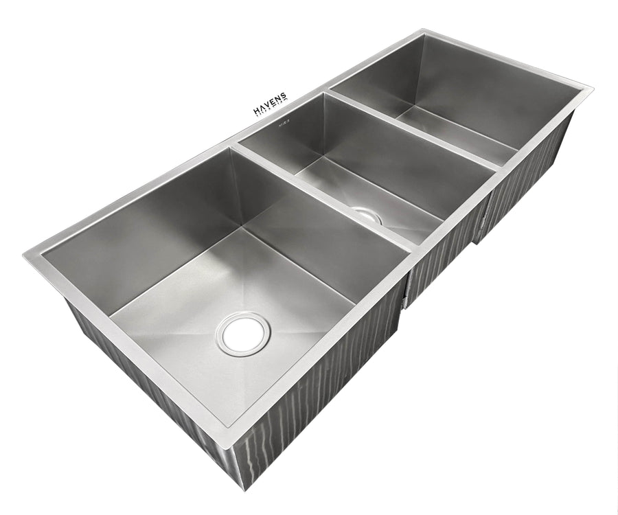 Trinity Stainless Undermount Sink - Triple Bowl