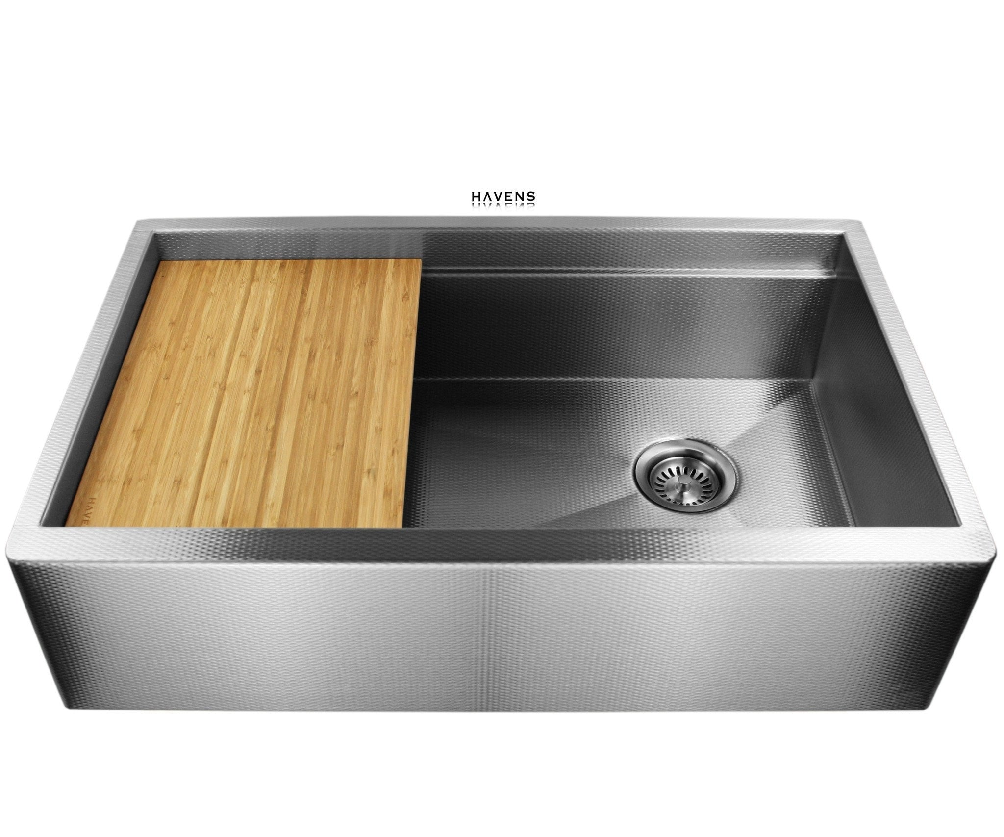Legacy Stainless steel sink with Amber Wood cutting board