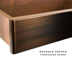 Legacy Farmhouse Sink - Brushed Copper