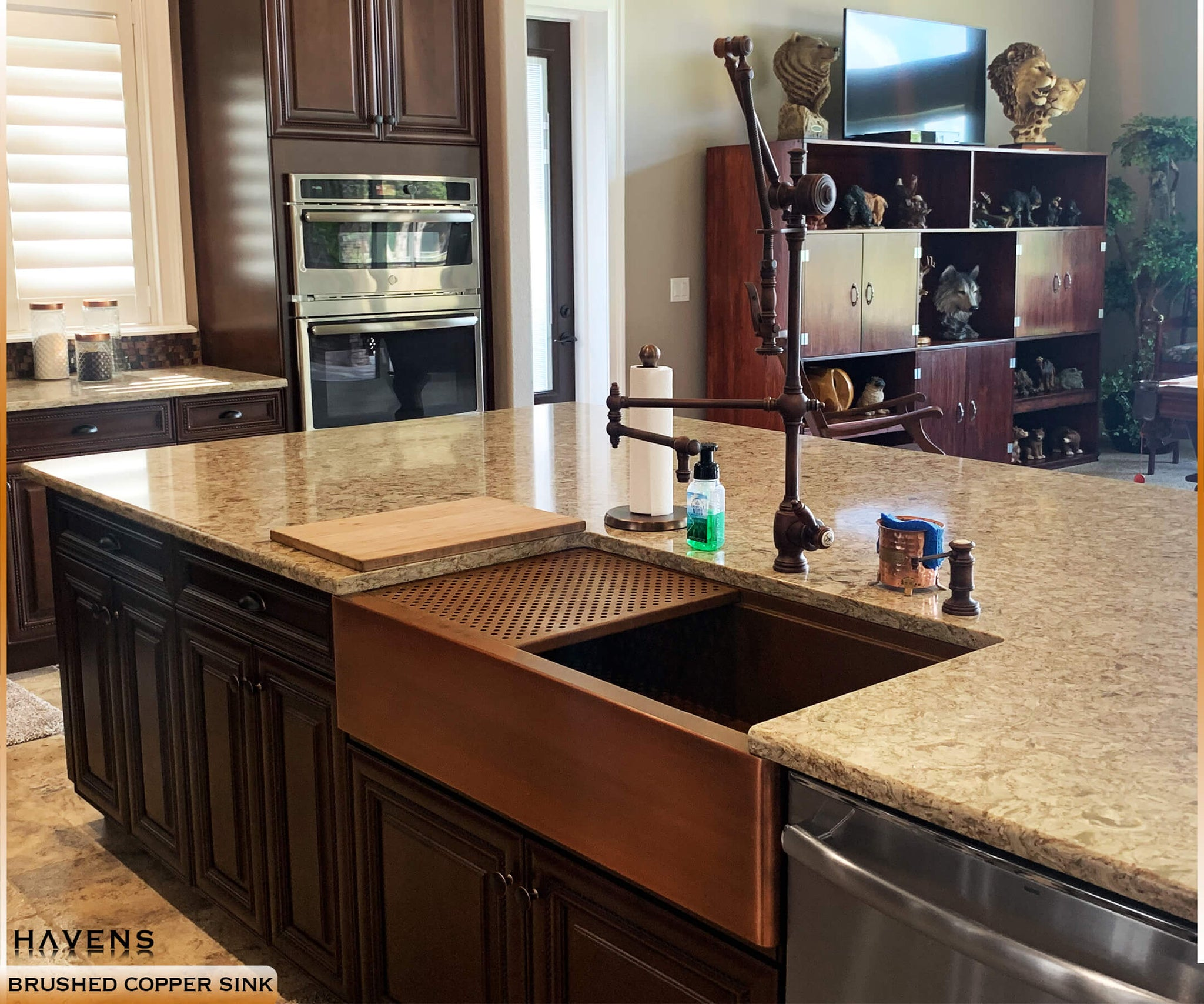 Image of: Copper Stainless Farmhouse Sinks Usa Handcrafted Havens Luxury Metals