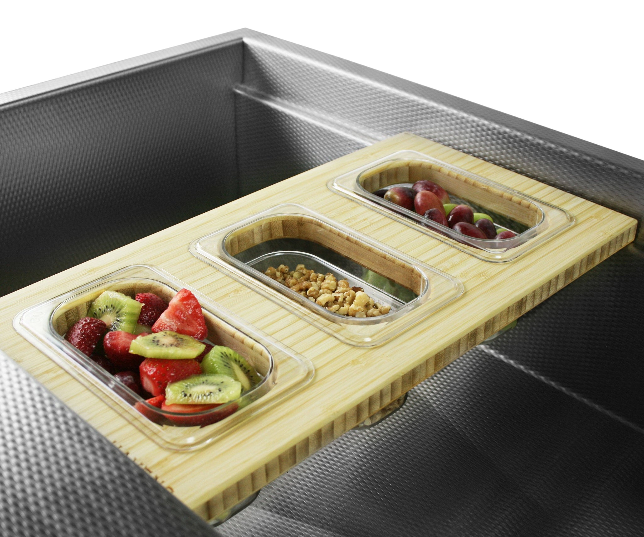 Cutting Board - Triple Container Serving Board