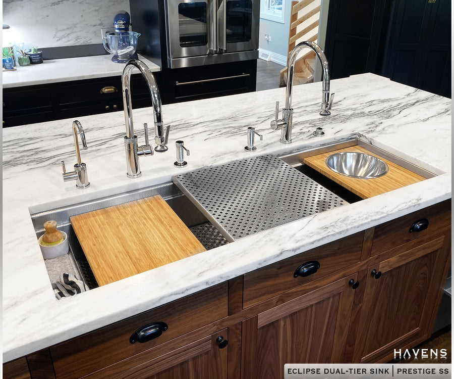 Eclipse Undermount Dual-Tier Sink - Stainless