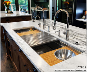 Eclipse Dual-Tier Sink - Stainless Steel
