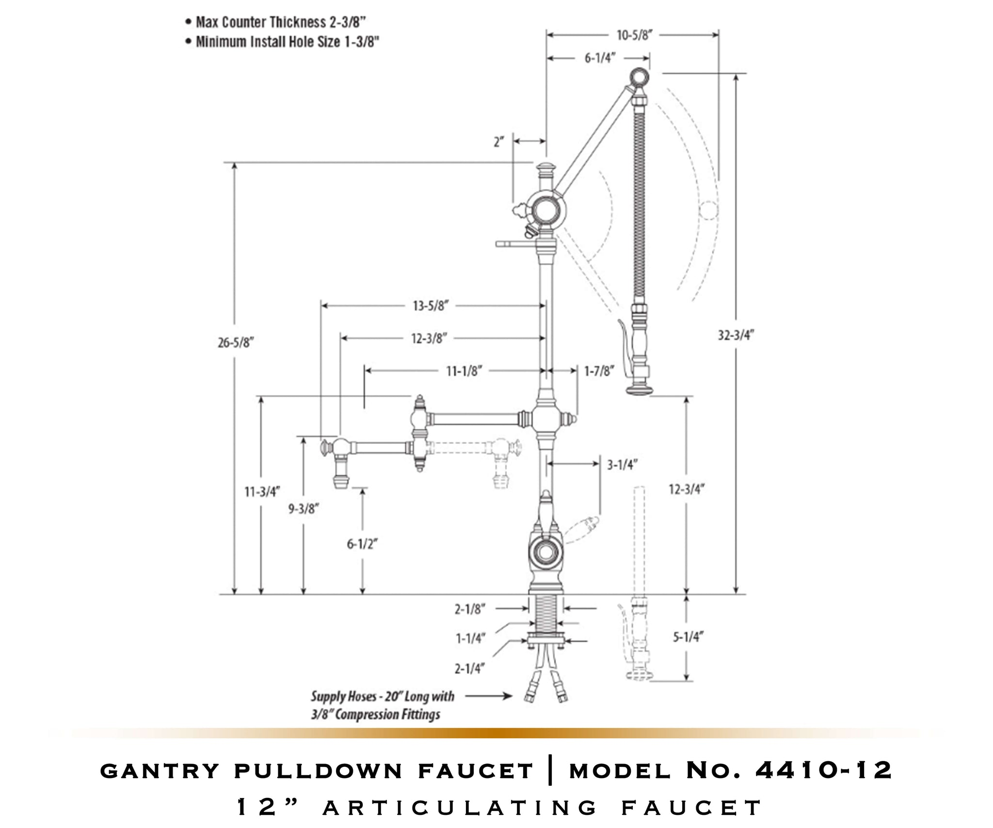 Gantry Pulldown Waterstone Faucet | Traditional 4400 / 4410
