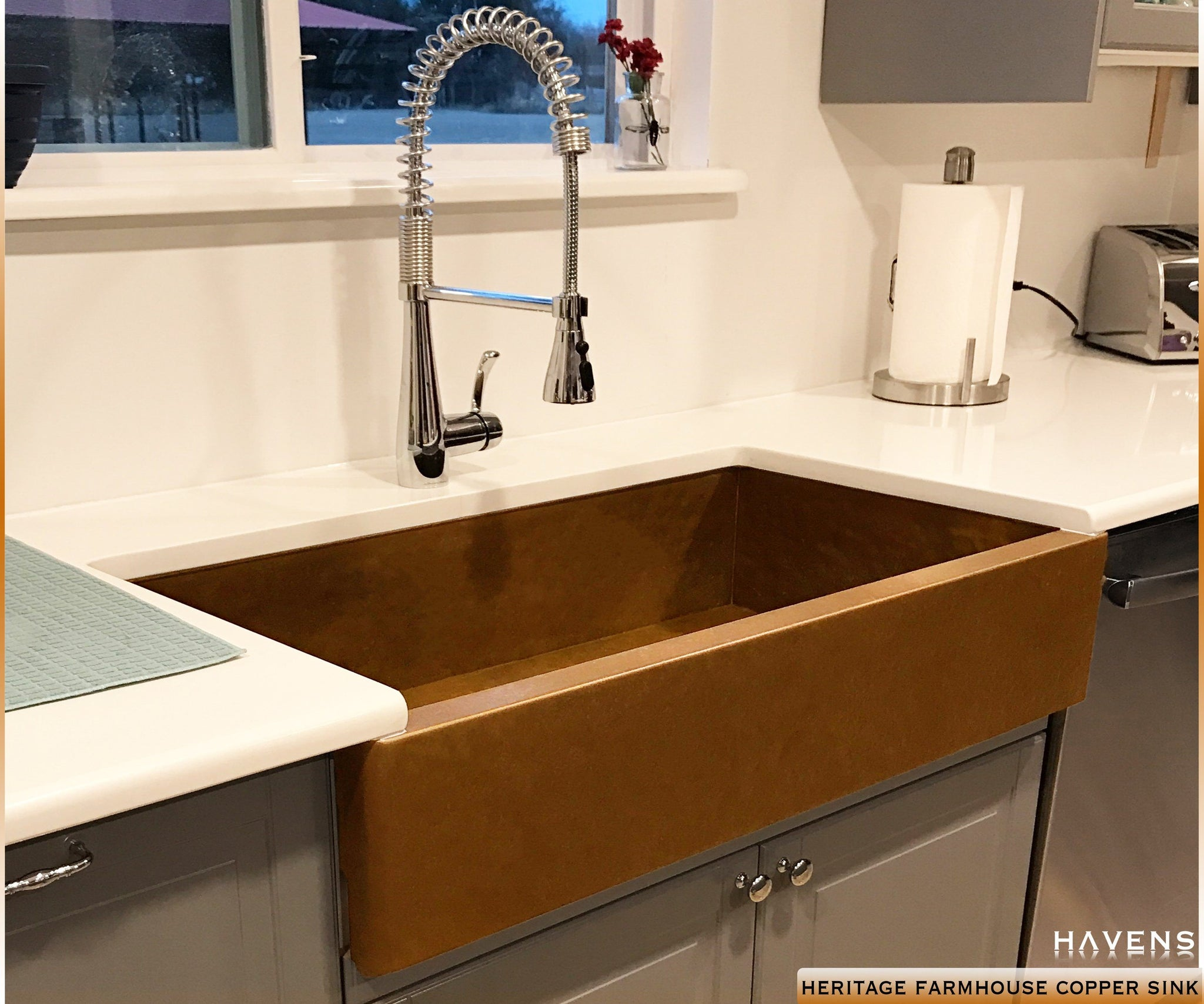Heritage Copper Farmhouse Sink
