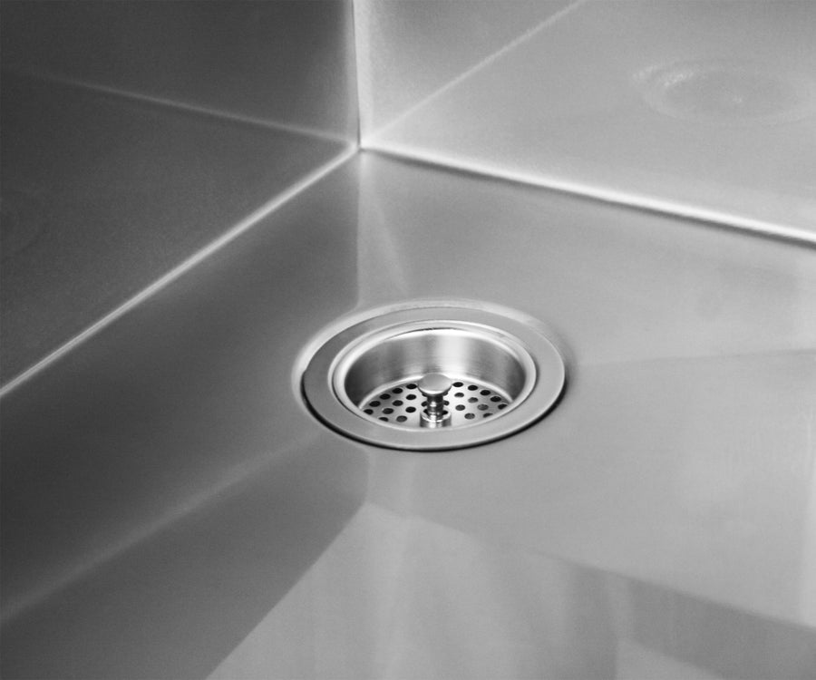 Stainless under mount 16 gauge kitchen sink made by Havens in the USA.