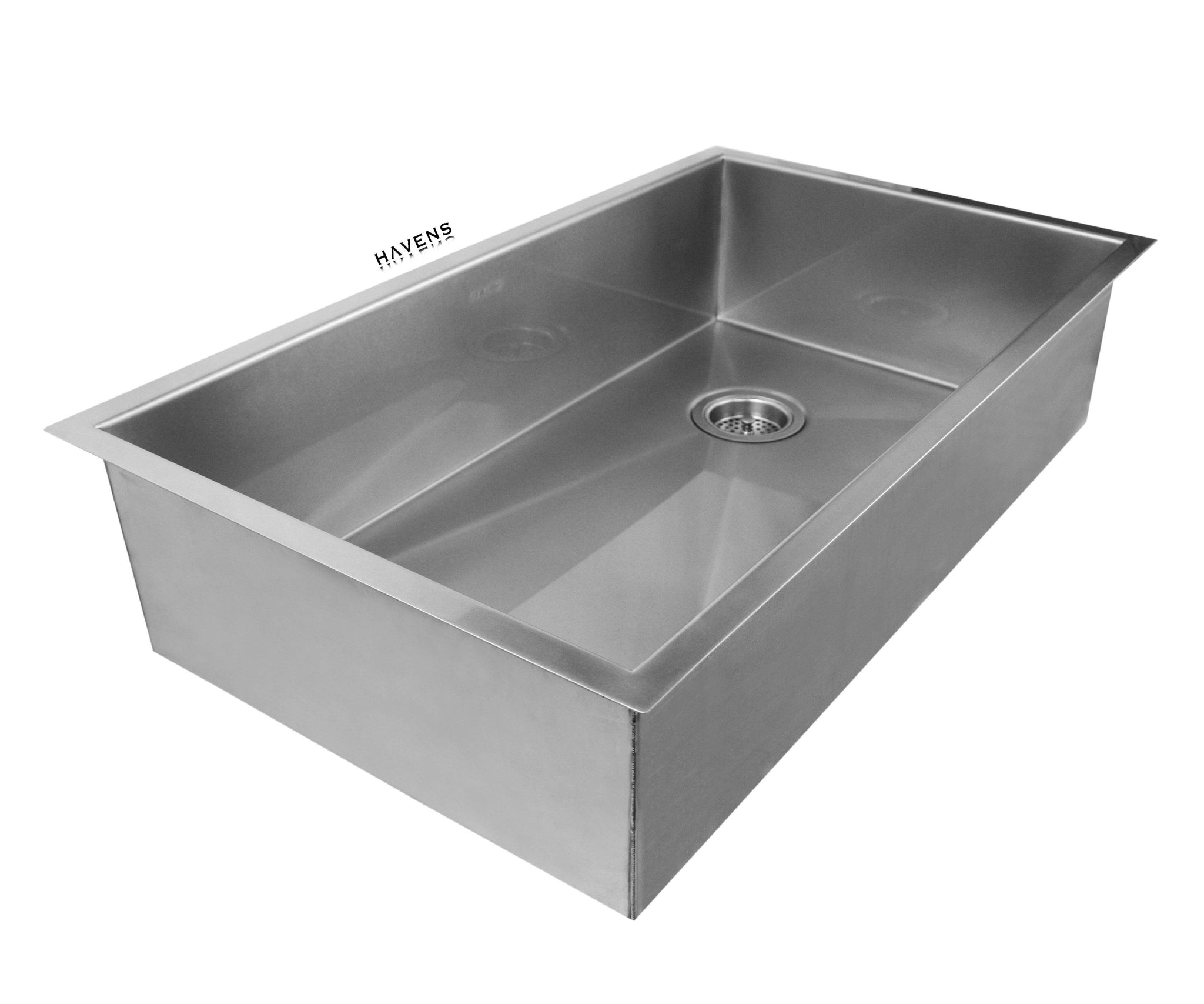 Undermount stainless steel sink made in the USA.