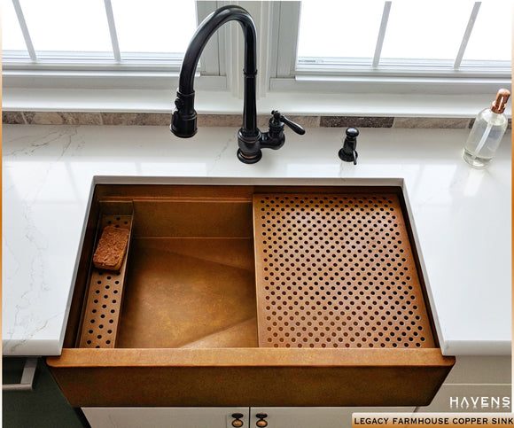 how to care for a copper kitchen sink advanced sink accessories havens metal 9699