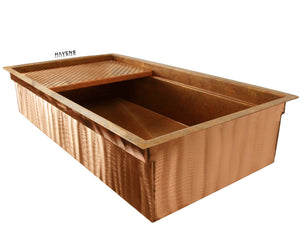 Undermount Legacy copper kitchen sink, crafted in the USA from 14 gauge copper.