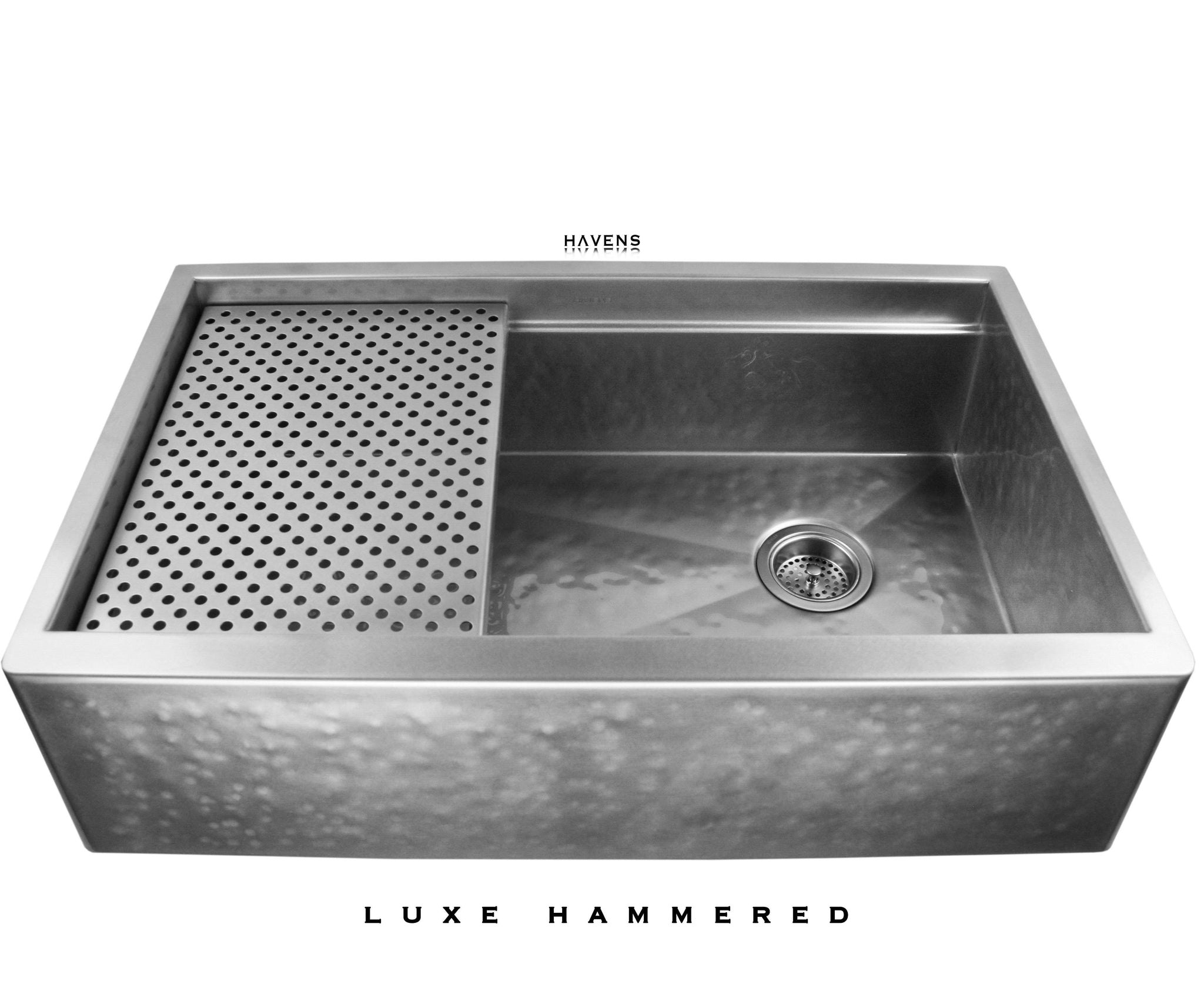 Legacy   Legacy Farmhouse Sink   Luxe Hammered Stainless