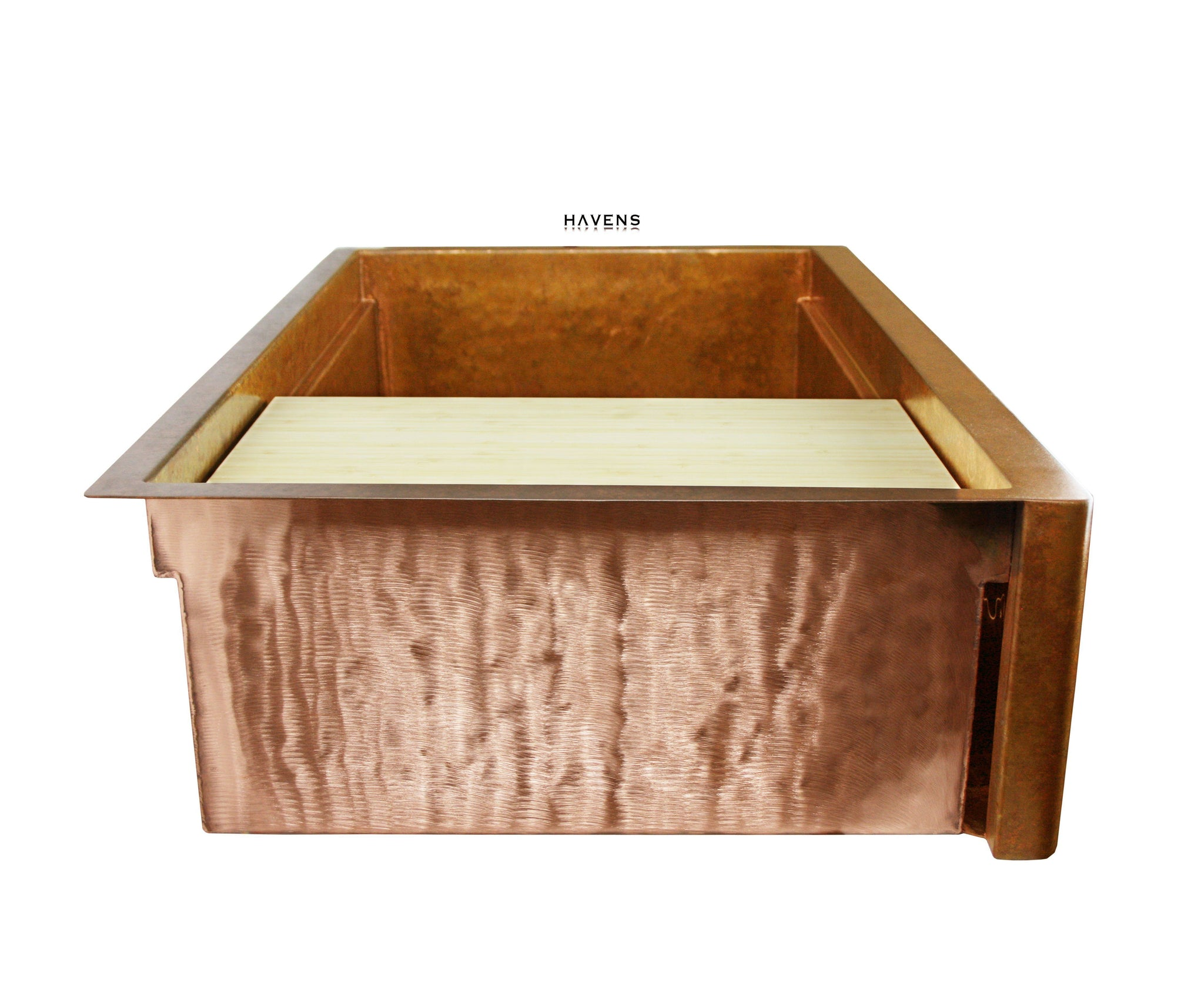 Legacy - Legacy Hammered Copper Farmhouse Sink - Undermount