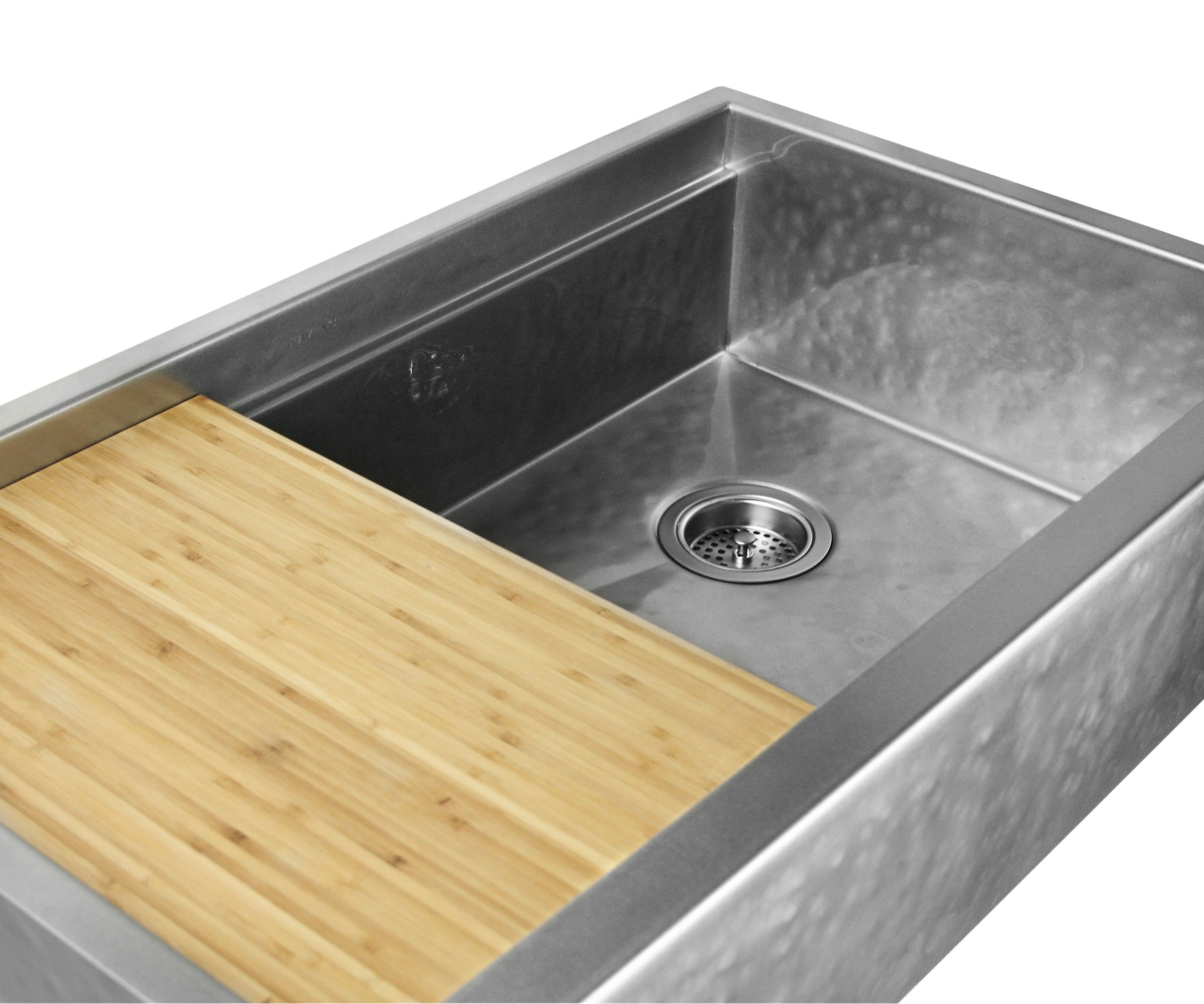 Legacy Farmhouse Sink   Luxe Hammered Stainless
